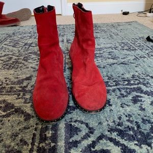 Red ankle boots, top shop, sz 8.5